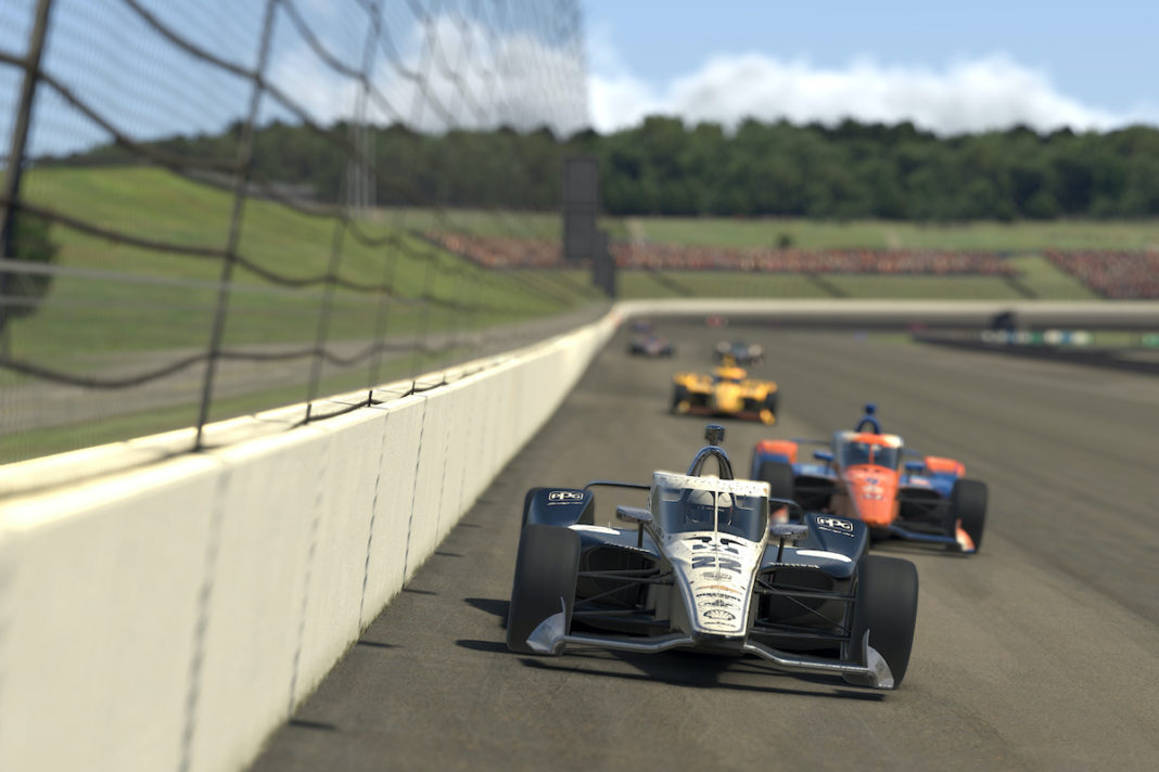 Simon Pagenaud at the IndyCar iRacing Challenge - Firestone 175 (FOTO: Chris Graythen/Getty Images/INDYCAR)